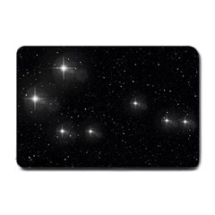 Starry Galaxy Night Black And White Stars Small Doormat
