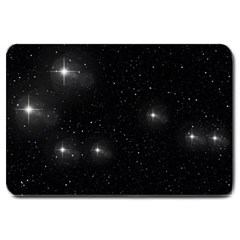 Starry Galaxy Night Black And White Stars Large Doormat