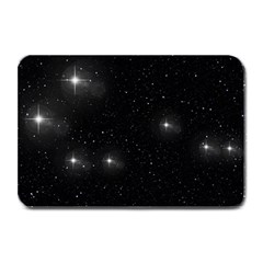 Starry Galaxy Night Black And White Stars Plate Mats