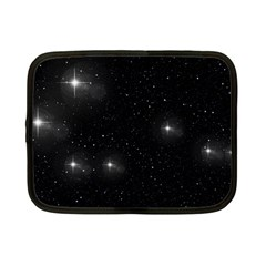 Starry Galaxy Night Black And White Stars Netbook Case (small)