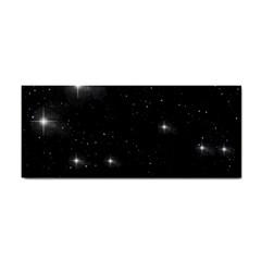 Starry Galaxy Night Black And White Stars Cosmetic Storage Cases