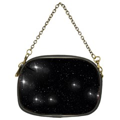 Starry Galaxy Night Black And White Stars Chain Purses (one Side)
