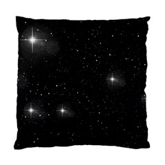 Starry Galaxy Night Black And White Stars Standard Cushion Case (one Side)