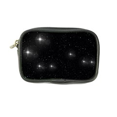 Starry Galaxy Night Black And White Stars Coin Purse
