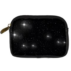 Starry Galaxy Night Black And White Stars Digital Camera Cases