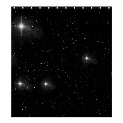 Starry Galaxy Night Black And White Stars Shower Curtain 66  X 72  (large)