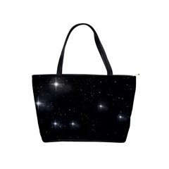 Starry Galaxy Night Black And White Stars Shoulder Handbags