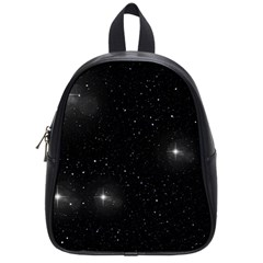 Starry Galaxy Night Black And White Stars School Bag (small)