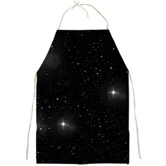 Starry Galaxy Night Black And White Stars Full Print Aprons