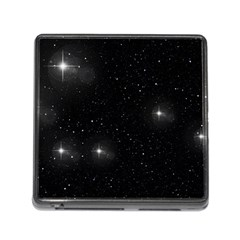Starry Galaxy Night Black And White Stars Memory Card Reader (square)