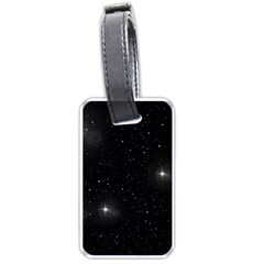 Starry Galaxy Night Black And White Stars Luggage Tags (one Side)