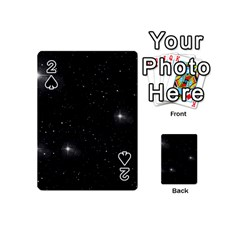 Starry Galaxy Night Black And White Stars Playing Cards 54 (mini)
