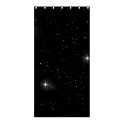 Starry Galaxy Night Black And White Stars Shower Curtain 36  X 72  (stall)