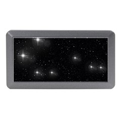 Starry Galaxy Night Black And White Stars Memory Card Reader (mini)