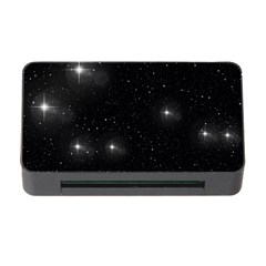 Starry Galaxy Night Black And White Stars Memory Card Reader With Cf