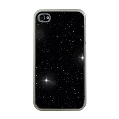 Starry Galaxy Night Black And White Stars Apple Iphone 4 Case (clear)