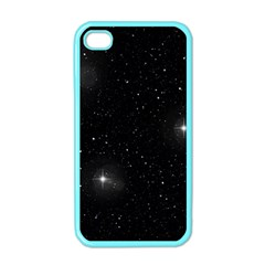Starry Galaxy Night Black And White Stars Apple Iphone 4 Case (color)