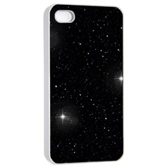 Starry Galaxy Night Black And White Stars Apple Iphone 4/4s Seamless Case (white)
