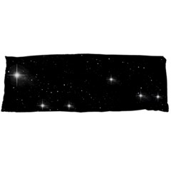 Starry Galaxy Night Black And White Stars Body Pillow Case Dakimakura (two Sides)