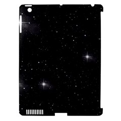 Starry Galaxy Night Black And White Stars Apple Ipad 3/4 Hardshell Case (compatible With Smart Cover)