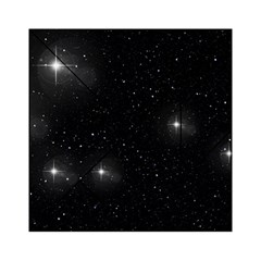 Starry Galaxy Night Black And White Stars Acrylic Tangram Puzzle (6  X 6 )