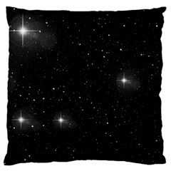 Starry Galaxy Night Black And White Stars Large Cushion Case (two Sides)