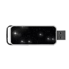 Starry Galaxy Night Black And White Stars Portable Usb Flash (two Sides)