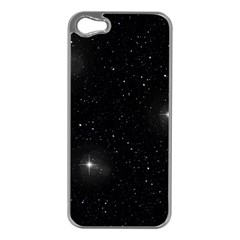 Starry Galaxy Night Black And White Stars Apple Iphone 5 Case (silver)