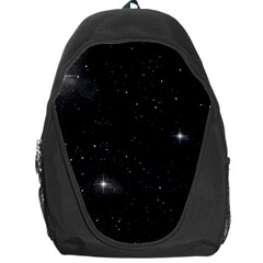 Starry Galaxy Night Black And White Stars Backpack Bag