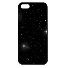 Starry Galaxy Night Black And White Stars Apple Iphone 5 Seamless Case (black)