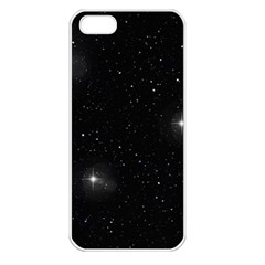 Starry Galaxy Night Black And White Stars Apple Iphone 5 Seamless Case (white)