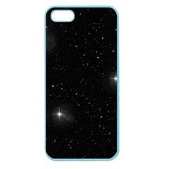 Starry Galaxy Night Black And White Stars Apple Seamless Iphone 5 Case (color)