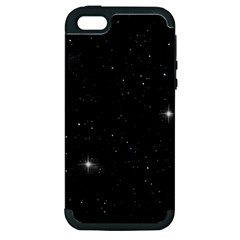 Starry Galaxy Night Black And White Stars Apple Iphone 5 Hardshell Case (pc+silicone)