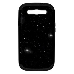Starry Galaxy Night Black And White Stars Samsung Galaxy S Iii Hardshell Case (pc+silicone)