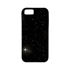 Starry Galaxy Night Black And White Stars Apple Iphone 5 Classic Hardshell Case (pc+silicone)