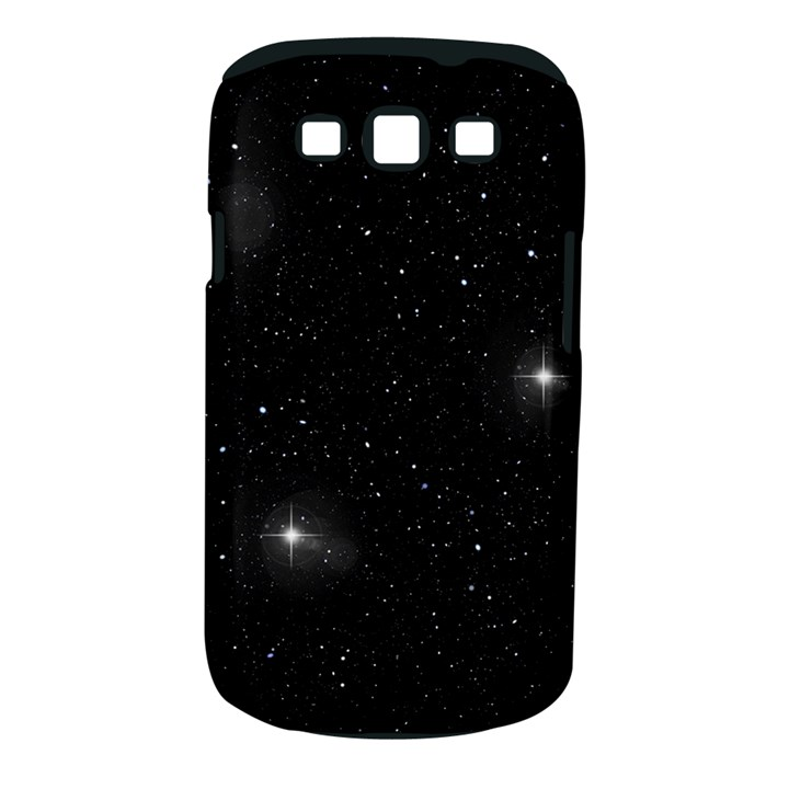 Starry Galaxy Night Black and White Stars Samsung Galaxy S III Classic Hardshell Case (PC+Silicone)