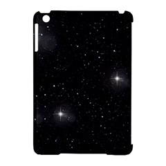 Starry Galaxy Night Black And White Stars Apple Ipad Mini Hardshell Case (compatible With Smart Cover)