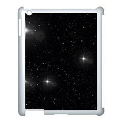 Starry Galaxy Night Black And White Stars Apple Ipad 3/4 Case (white)