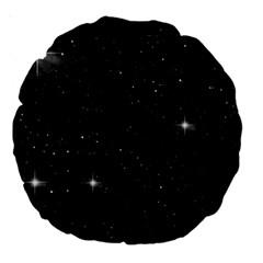 Starry Galaxy Night Black And White Stars Large 18  Premium Round Cushions