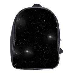 Starry Galaxy Night Black And White Stars School Bag (xl)