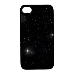 Starry Galaxy Night Black And White Stars Apple Iphone 4/4s Hardshell Case With Stand
