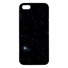 Starry Galaxy Night Black And White Stars Apple Iphone 5 Premium Hardshell Case
