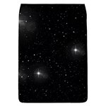 Starry Galaxy Night Black and White Stars Flap Covers (L)  Front