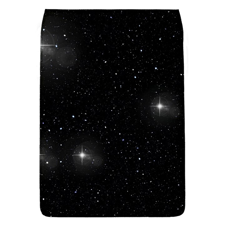 Starry Galaxy Night Black and White Stars Flap Covers (L)