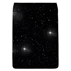 Starry Galaxy Night Black And White Stars Flap Covers (s)