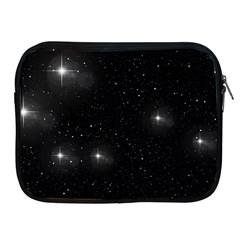 Starry Galaxy Night Black And White Stars Apple Ipad 2/3/4 Zipper Cases