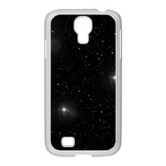 Starry Galaxy Night Black And White Stars Samsung Galaxy S4 I9500/ I9505 Case (white)