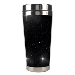 Starry Galaxy Night Black And White Stars Stainless Steel Travel Tumblers