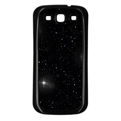 Starry Galaxy Night Black And White Stars Samsung Galaxy S3 Back Case (black)