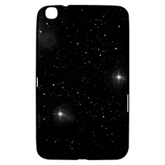 Starry Galaxy Night Black And White Stars Samsung Galaxy Tab 3 (8 ) T3100 Hardshell Case